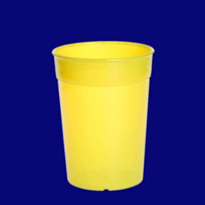 Vratný kelímek l PP barevný žlutý