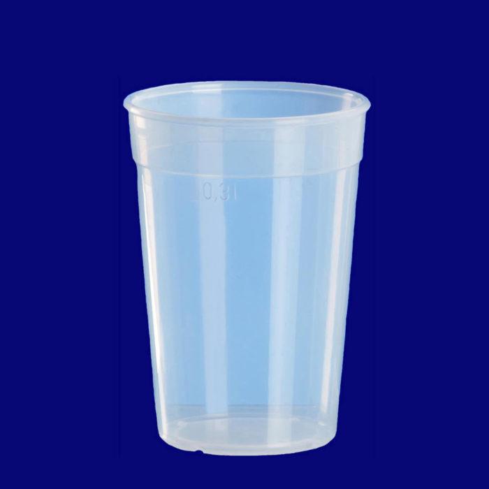 Återanvändbar 0,25l PP transparent