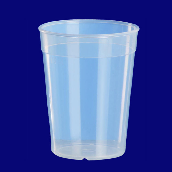 Plastglas 0,4l PP transparent